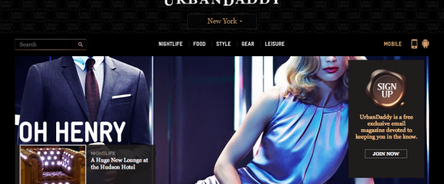 App to look for Urban Daddy Mobile feature