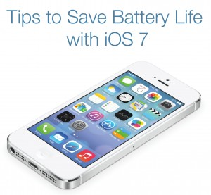 Save battery life