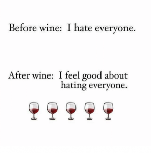 i hate people but i love wine