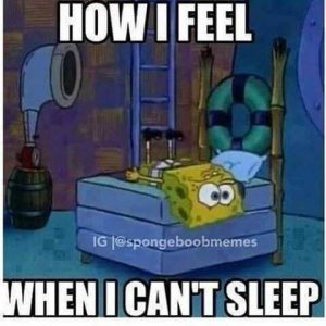 spongebob can't sleep